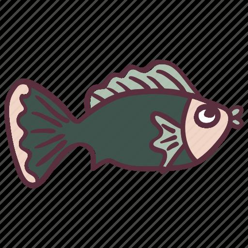 fish, fishing, green, ocean, sea icon
