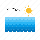 beach, ocean, pool, sea, sky, sun, water icon