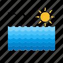 beach, ocean, pool, sea, sky, sun, water