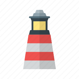 beam, light, lighthouse, ocean, sea, sky, water icon
