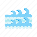 blue, ocean, surfing, tropical, water, wave, waves icon