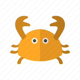 animal, crab, fresh, meal, red, sea, seafood icon