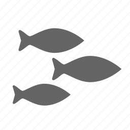 eat, fish, flock, food, group, sea icon