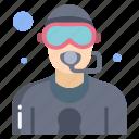 scuba, diving, mask