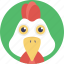 cock, cockerel, male chicken, male gallinaceous bird, rooster icon