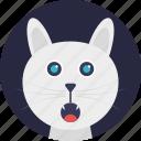 pet, domestic animal, cat face, cartoon character, kitten
