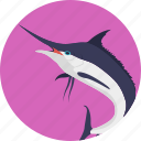 animal, creature, fish, sealife, swordfish icon
