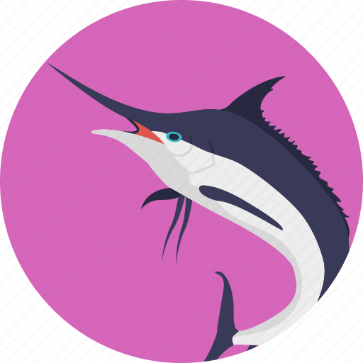 animal, creature, fish, sealife, swordfish icon