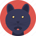 animal, black feline, cat, domestic animal, wild cat icon
