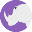 animal, land animal, mammal, rhino, rhinoceros icon