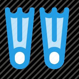 diving, fins, scuba, snorkeling icon