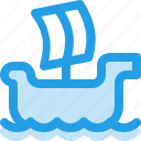 boat, ocean, sea, ship, windsurfing icon