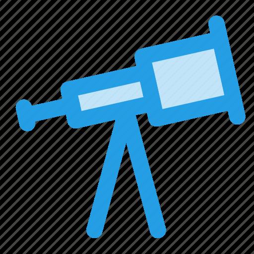 binoculars, holiday, sea, telescope icon