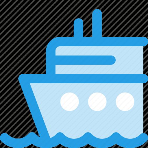 boat, cruise, ocean, sea, ship, travelling icon