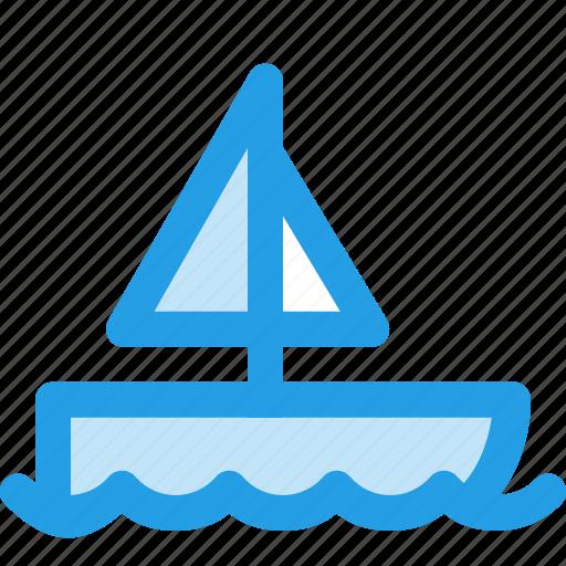 boat, ocean, sea, seiling, ship, sport, travel icon