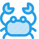 animal, cancer, crab, holiday, ocean, sea, seafood icon