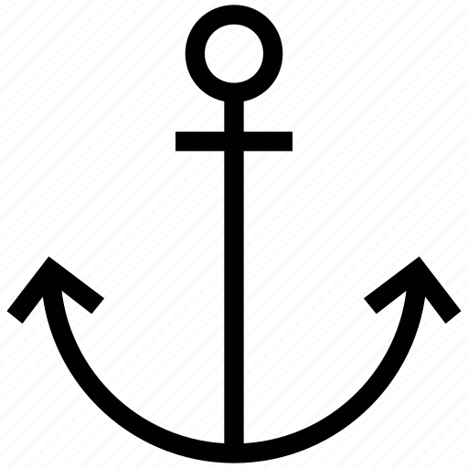 anchor, boat anchor, navigational tool, vessel anchor icon