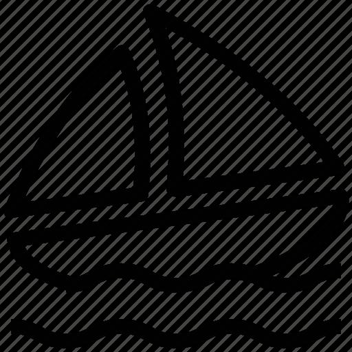boat, sailboat, sailing boat, sails, sea travel, ship icon