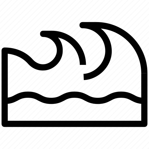 Ocean, sea, sea waves, water waves, waves icon - Download on Iconfinder