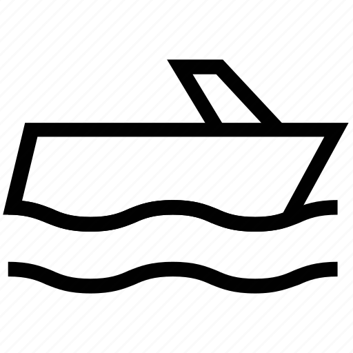 boat, boat ship, cruise ship, ship, watercraft, yacht icon