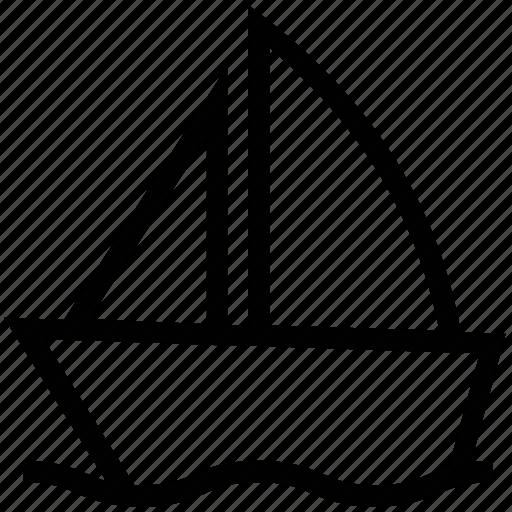 boat, hovercraft, sail, sailboat, sailing, yacht icon