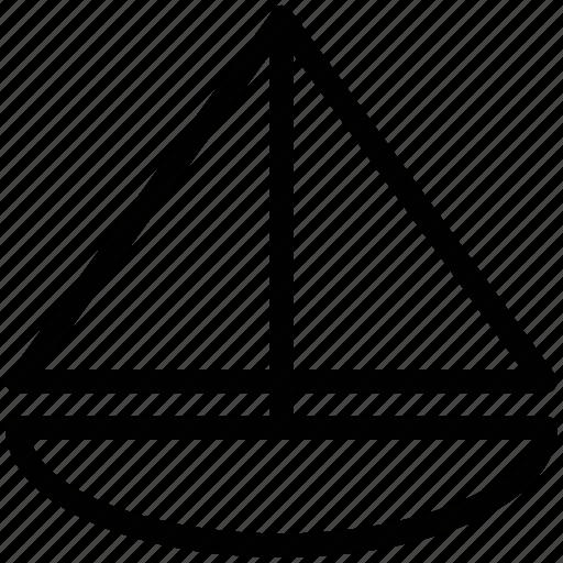 boat, boat sailing, sail, sailing, vessel, yacht icon