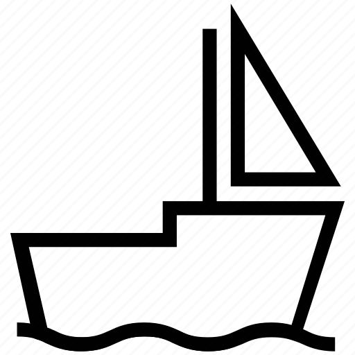 boat, sail, sailboat, vessel, yacht icon