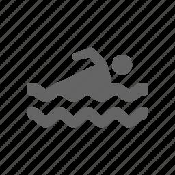 human, male, man, men, person, pool, swimming icon