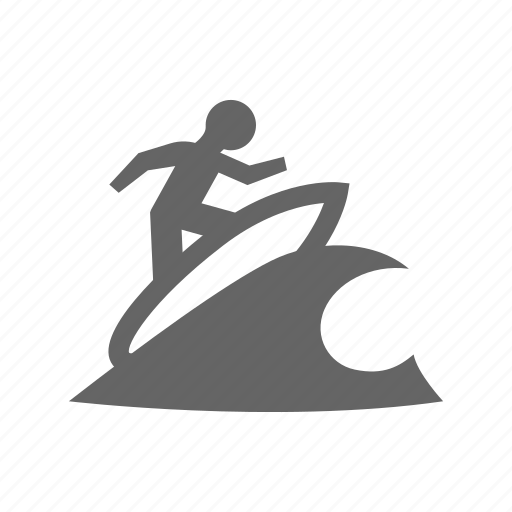 relaxation, sea, sport, surfboard, surfing, swimming, travel, water, wave icon