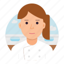 cook, chef, woman, avatar icon