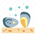 animal, food, oyster, pearl icon