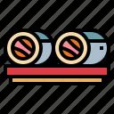 fish, food, roll, seafood icon
