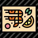 food, lemon, seafood, shrimp icon
