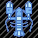 animal, food, life, lobster, sea icon