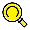 general, magnifier, search icon