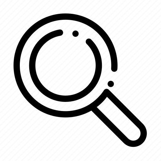 glass, look, magnifying, search icon