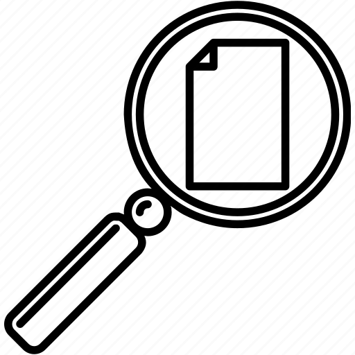 file, find file, magnifying glass, missing document, missing file, search, search file icon