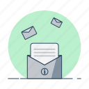 envelope, mail, message, post, read, send icon