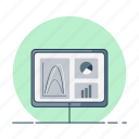 data, diagram, graph, monitor, statistic, table icon