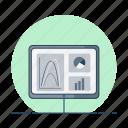 data, diagram, graph, monitor, statistic, table icon