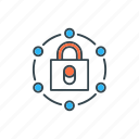 connection, lock, network, private, protection, secure icon