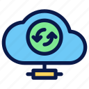 cloud, seo, server, sync icon