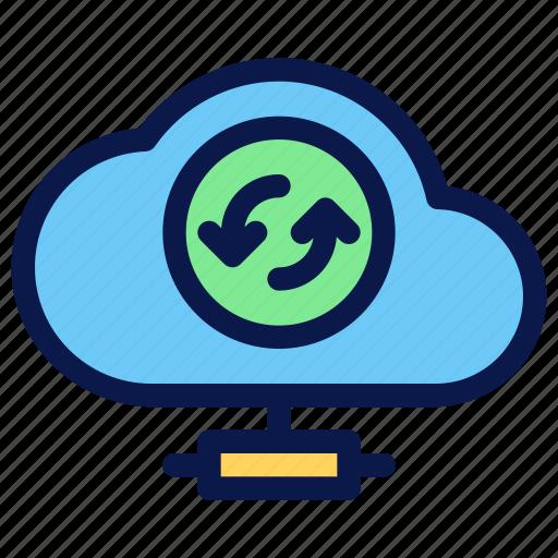 cloud, seo, server, sync icon