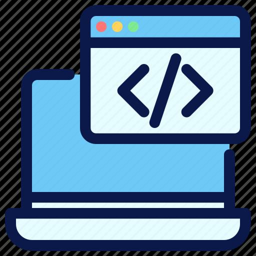 coding, custom, development, seo, web icon