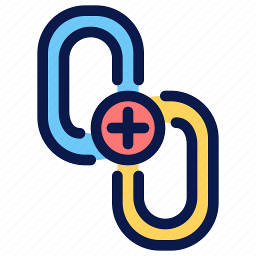 building, connect, link, seo icon