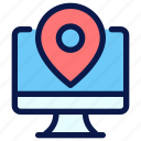 local, marketing, optimization, search, seo icon