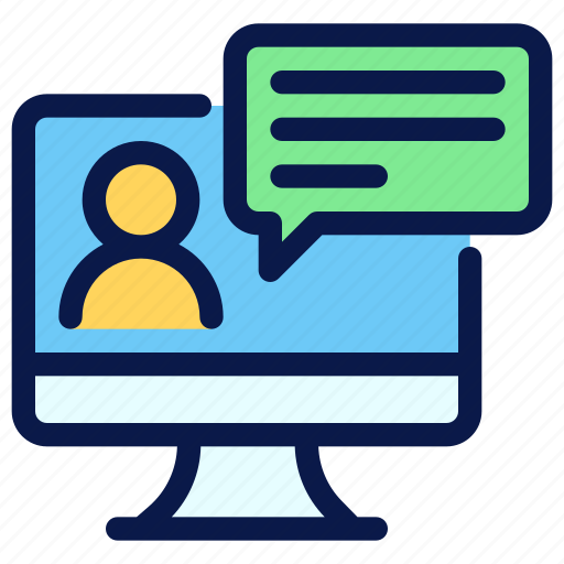 chat, consulting, online, seo, tutorials icon