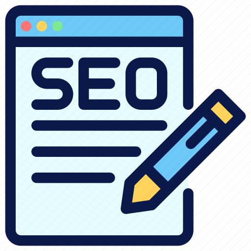 content, copywriting, seo, web icon