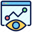 chart, graph, monitoring, seo icon