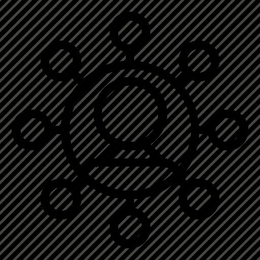 boss, connection, network, scheme, seo icon